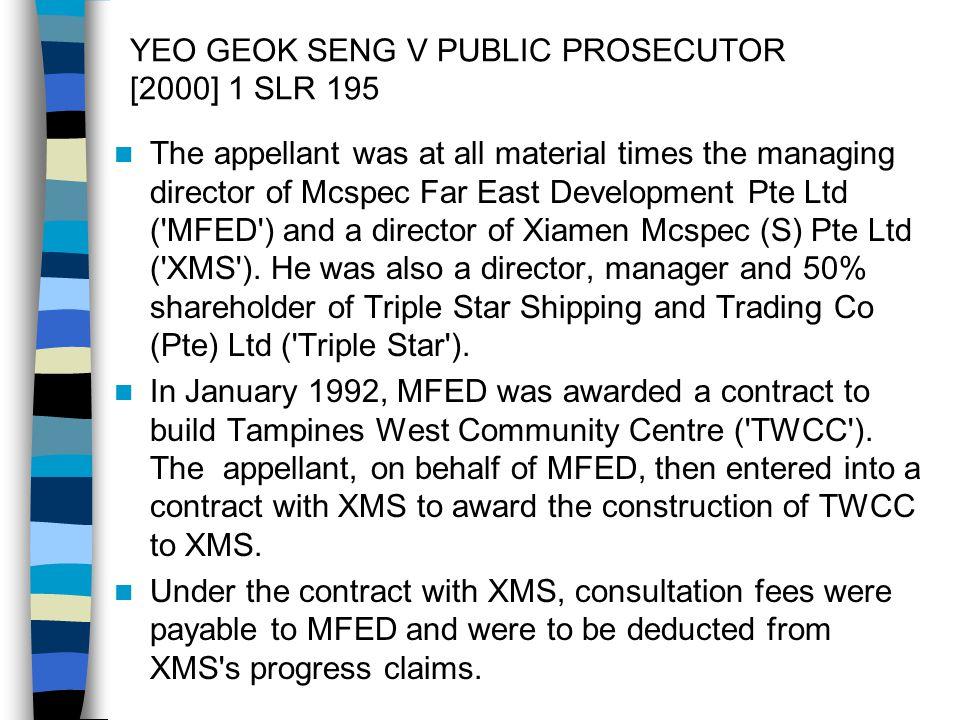 YEO GEOK SENG V PUBLIC PROSECUTOR [2000] 1 SLR 195